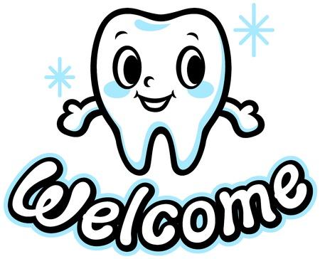 幸せな笑顔歯の歓迎