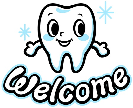 whiten: Happy smiling tooth  Welcome
