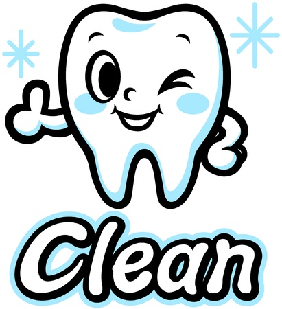 Happy smiling tooth  Clean  Vector