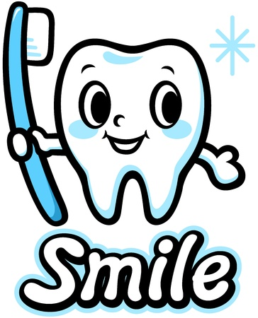 Happy smiling tooth  Smile  Vector