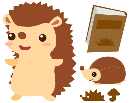 Cute hedgehog Stock Vector - 18158722