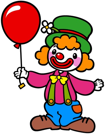 Clown with balloons Stock Vector - 18199897