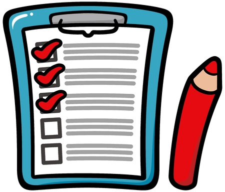 Clipboard with Checklist Illustration