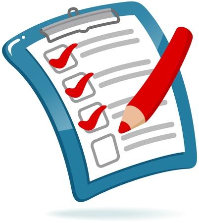 Clipboard with Checklist Illustration