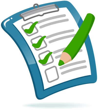 Clipboard with Checklist Vector
