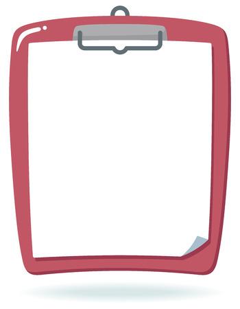 portapapeles: papel blanco y portapapeles Vectores