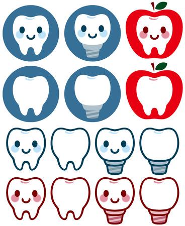 Cute character of dental