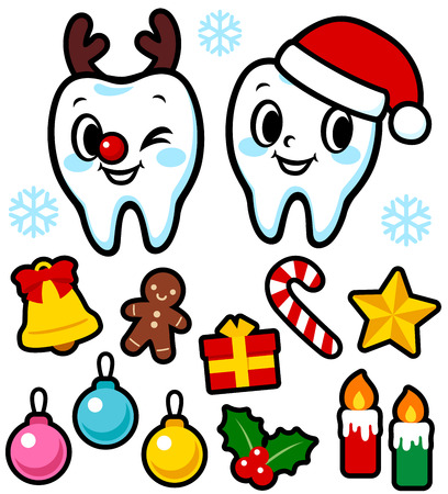 dental hygienist: The teeth of the character (Christmas)