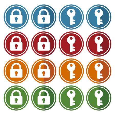 crime prevention: Key and lock icon