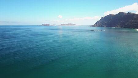 ランサローテ島の海岸の眺め 写真素材