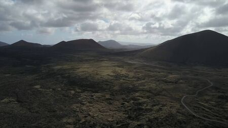 Routes and volcanoes of Fuerteventura in the Canary Islands