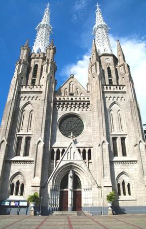Cathedral Church, Jakarta Standard-Bild - 7777535