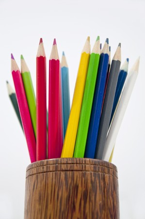 Colored pencils and the pencil holder