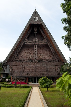 The traditional house of North Sumatra, Indonesia Stock Photo