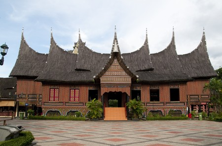 The traditional house of West Sumatra, Indonesia