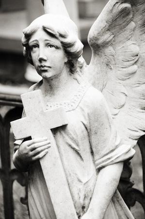 Angel in graveyard