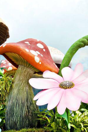Der Garten der Pilz Standard-Bild - 8681458