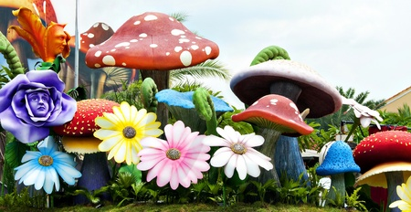 kids garden: The garden of mushroom