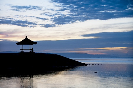 Sunrise at Sanur beach, Bali Stock Photo