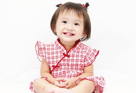 Little baby girl smiling Stock Photo
