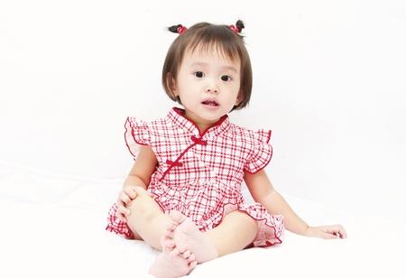 Little baby girl sitting