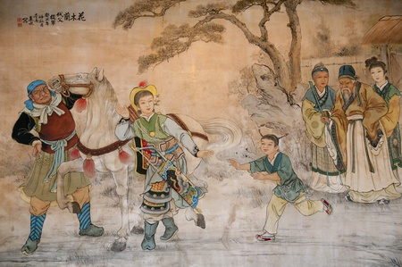 chinese painting: Chinese classic wall drawing