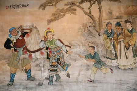Chinesische klassische Wandzeichnung Standard-Bild - 13521800