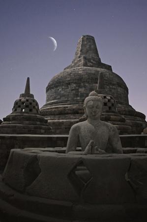 Borobudur Night  Stock Photo