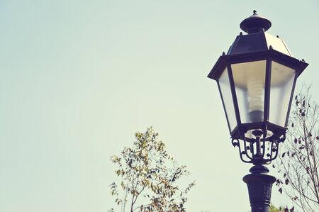springy: vintage springy streetlight  Stock Photo