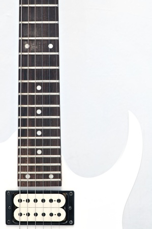 inlay: Electric guitar fingerboard with dot inlay