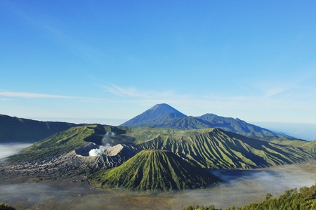 erupt: Mount Bromo, Java, Indonesia