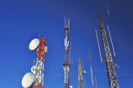 Kommunikationsantennen Standard-Bild - 17980346