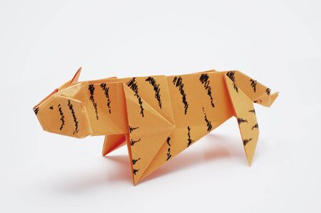 Tiger origami  Stock Photo