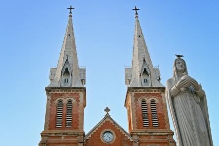 Regina Pagis and Notre Dame Ho Chi Minh City, Vietnam  Stock Photo