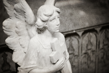 carrying the cross: angel carrying cross - textured