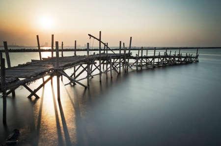 bamboo dock - long exposure