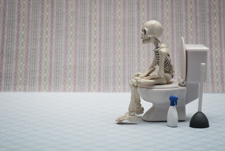 skeleton toilet