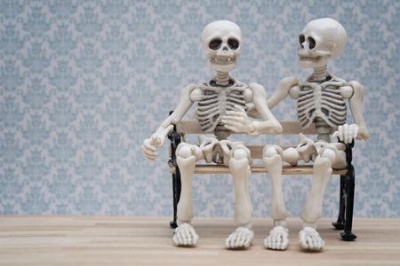 skeleton talks Stock Photo