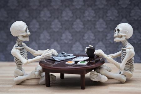 adult bones: skeletons meal Stock Photo