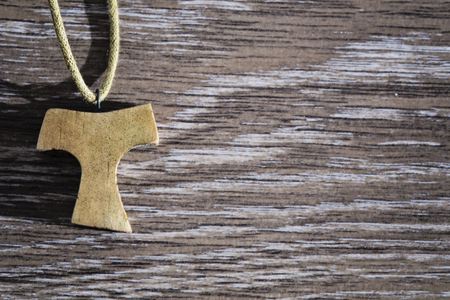 franciscan: Wooden Tau pendant