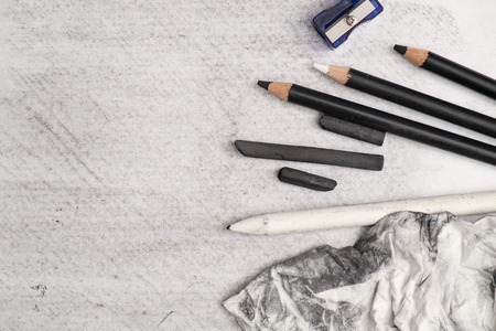 artistry: charcoal painting and equipment