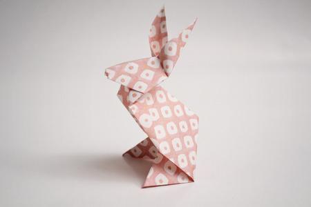 origami: Origami rabbit Stock Photo