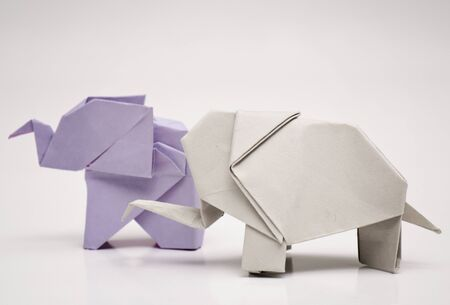 recycling symbols: Origami elephants