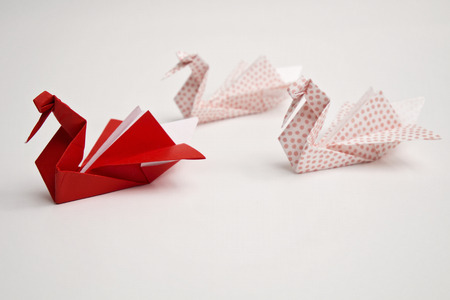 swans: Origami swans