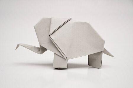 recycling symbols: Origami elephant