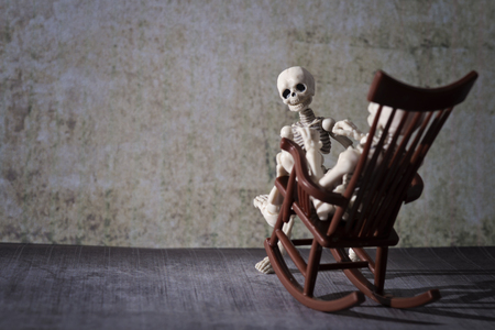 Skeleton and the rocking chair