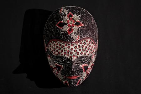 Javanese batik wooden mask