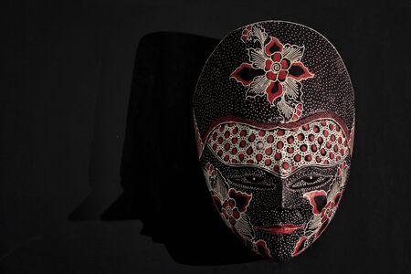 old asian: Javanese batik wooden mask