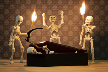 the art of divination: The rising Death ritual Stock Photo