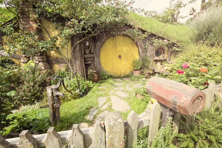 Hobbiton Village - The site created for filming Hollywood Movie THE HOBBIT and LORD OF THE RINGS. Editorial